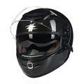 Brand carbon fiber motocross helmet dual lens motorcycle helmets anti dazzling deduction casque moto full helmets