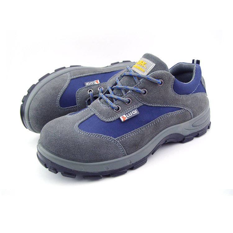 big size men breathable steel toe cap work safety shoes women lace up ankle tooling boots puncture proof protective footwear