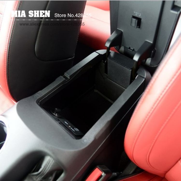 2016 New Design Car Central Storage Pallet Armrest Container Box For For Ford Mustang 2015 Car Styling(China (Mainland))