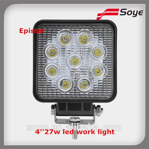 10-30vDC 27w square led work light led driving light Off road Truck IP67(China (Mainland))