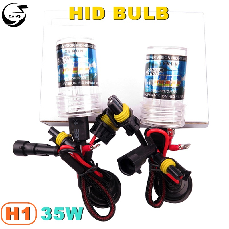 2PCS/Lot H1 35W 12V Car Styling HID Xenon Bulb Headlight Lamp Replacement Auto Light Source 3000K 4300K 5000K 6000K 8000K12000K