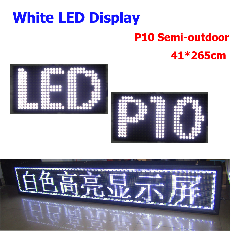 2015 New product china manufacture led sign 41*265cm store bank advertising billboard p10 white led panel 320*160mm(China (Mainland))