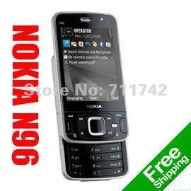 Nokia N96 Refurbished Unlocked Phone,3G Smartphone, Quad-Band, WIFI, 5MP Camera, Symbian OS,Free Shipping(China (Mainland))