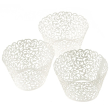 60pc New! Little Vine Lace Laser Cut Cupcake Wrapper Liner Baking Cup Muffin & Happy Kitchen Time forma de silicone Smile(China (Mainland))
