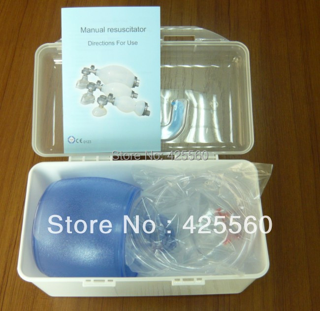 4 Pieces PVC Medical Plastic Latex-Free Disposable Bag One-way Valve Mask CPR Manual Resuscitator For First Aid Training(China (Mainland))