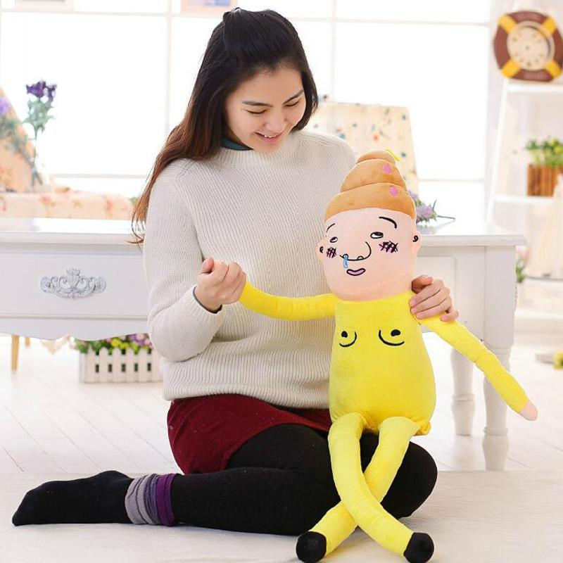 110cm Creative Funny Plush Toy Stool male doll doll nose feces primary male Japanese Lucky star(China (Mainland))