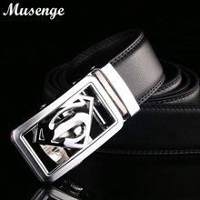 Buy MUSENGE Belt Superman Leather Belt Men Ceinture Homme Designer Belts Men High Automatic Buckle Cinto Masculino Mens Riem for $9.35 in AliExpress store