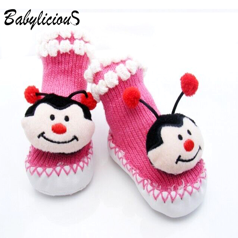 Cute Newborn Baby Winter Sock Slipper Toddle Prewalker Soft Shoes Girl Baby for Winter(China (Mainland))