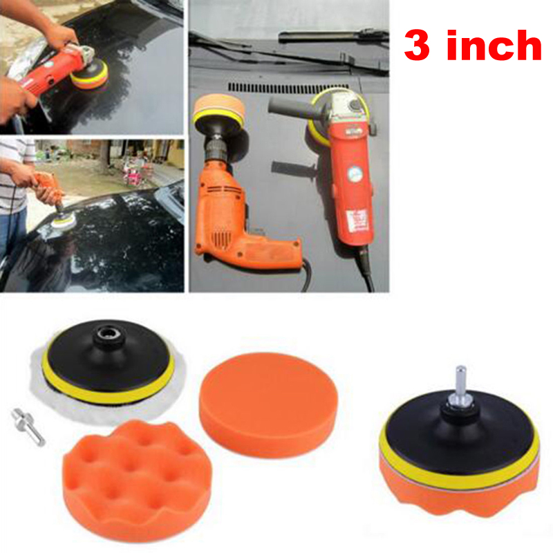 7Pcs/Set 3 Inch Car Polishing Sponge Tool For Auto Truck Paint Cleaning Window Wash Waxing Buffing Pads Kit(China (Mainland))