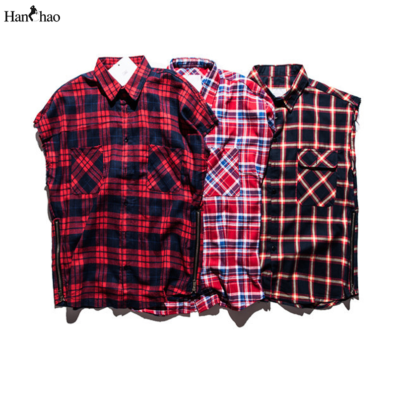 Buy plaid shirts men sleeveless 2016 for Where to buy cheap plaid shirts