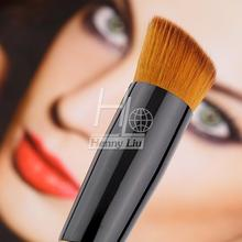 Professional Full Featured Foundation Makeup Brush Cream Flat Top Buffing Brush Cosmetic Makeup Basic Tool Wooden