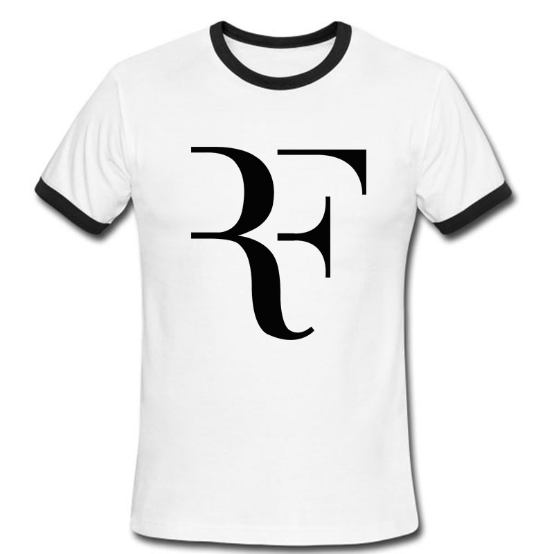 Roger Federer Tennis t shirts Fashion Men Tee Shirt Top Cotton RF logo printed t-shirt(China (Mainland))