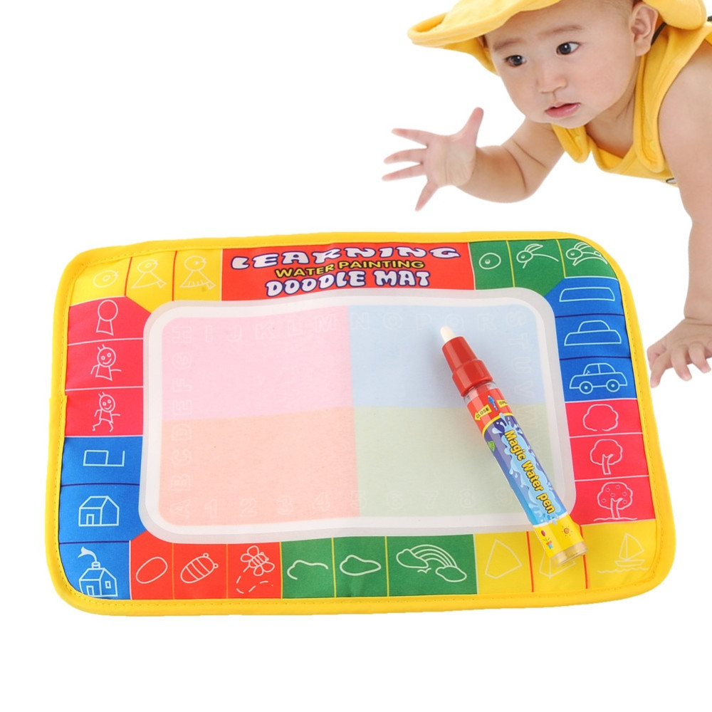 Water Drawing Painting Writing Mat with Magic Pen Doodle Toy Kid Child Safe Free Shipping(China (Mainland))