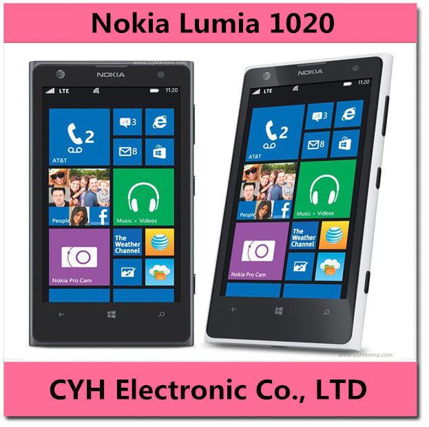 """Original Nokia Lumia 1020 Nokia Windows cell Phone 32G ROM Camera 41MP NFC Bluetooth 3G / 4G 8 Dual Core 4.5"""" Screen Cellphone(China (Mainland))"""