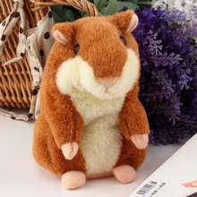 Russian Talking Hamster Pet Electronic Interactive Speaking Record Plush Stuffed Toys(China (Mainland))