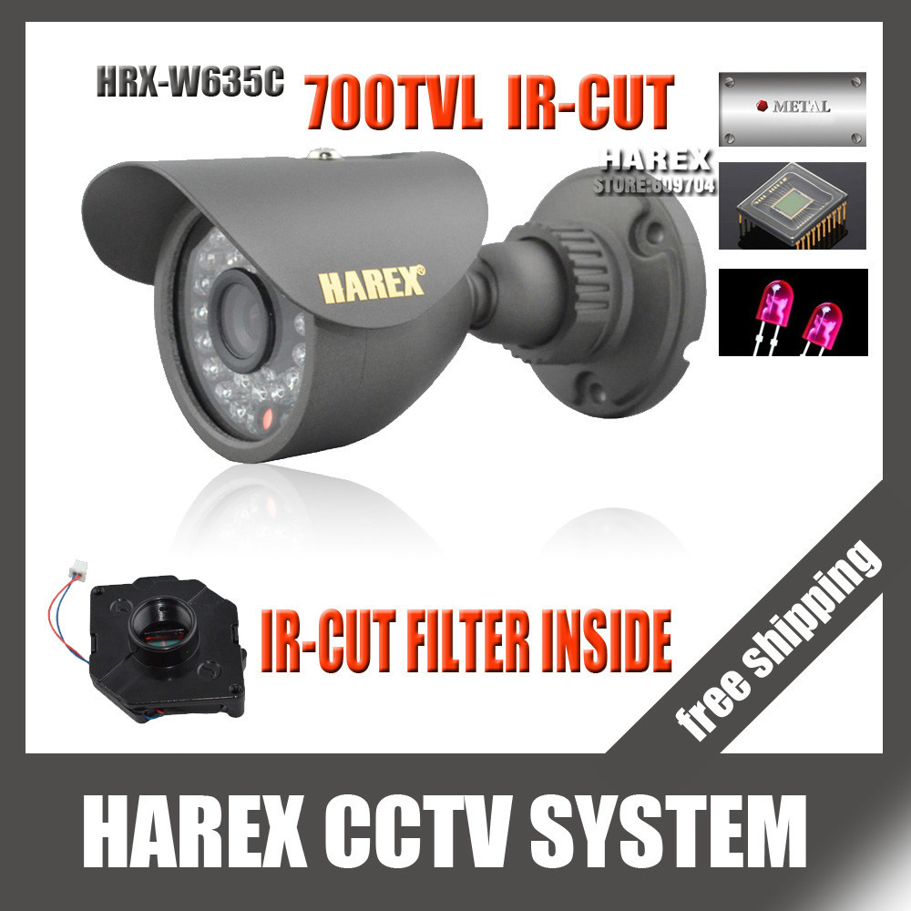 700TVL CMOS with IR-CUT Filter Switch 36pcs IR leds Day/night waterproof indoor / outdoor CCTV camera with bracket. free shpping(China (Mainland))