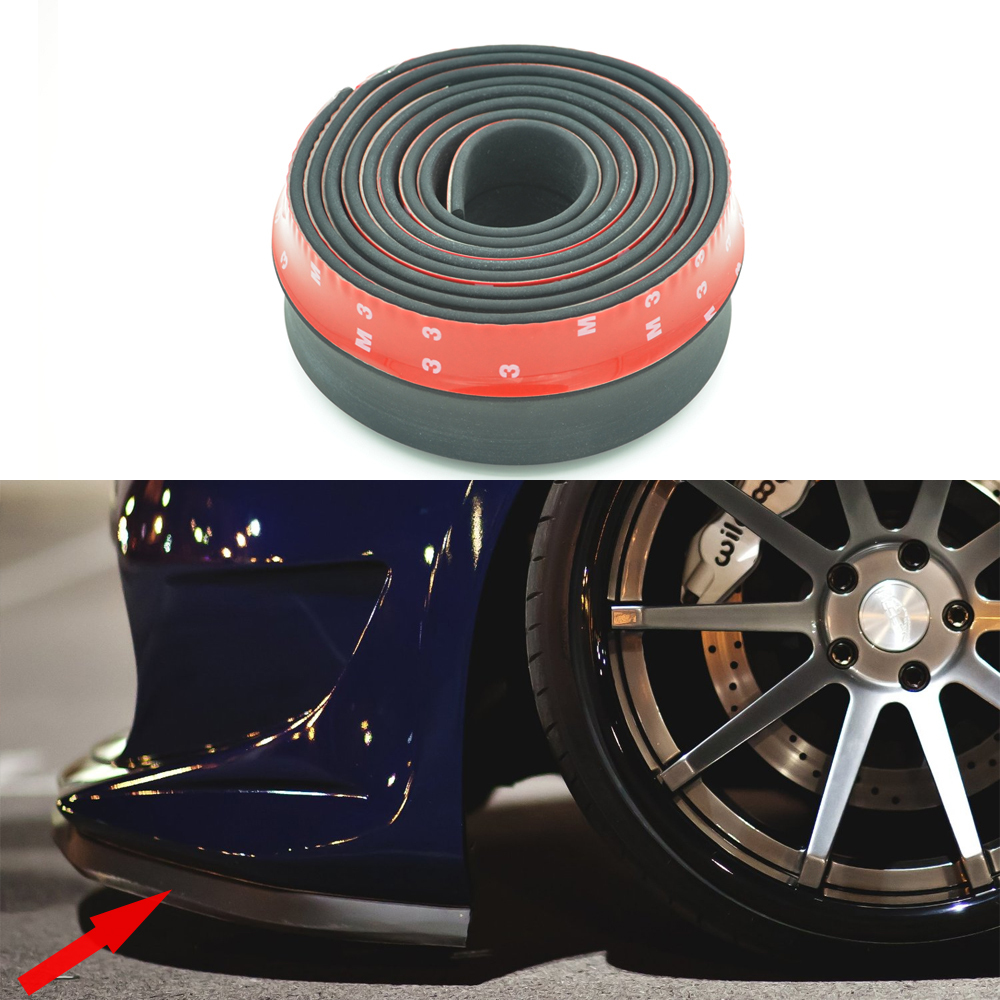 Newest 2.5M/ Roll Car styling Multi deflector Universal Front LIP Bumper Spoiler Exterior Auto Accessories Free shipping(China (Mainland))