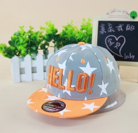 2015 new spring fashion Korean stars Hello children's hat manufacturer supply wholesale kids snapback(China (Mainland))