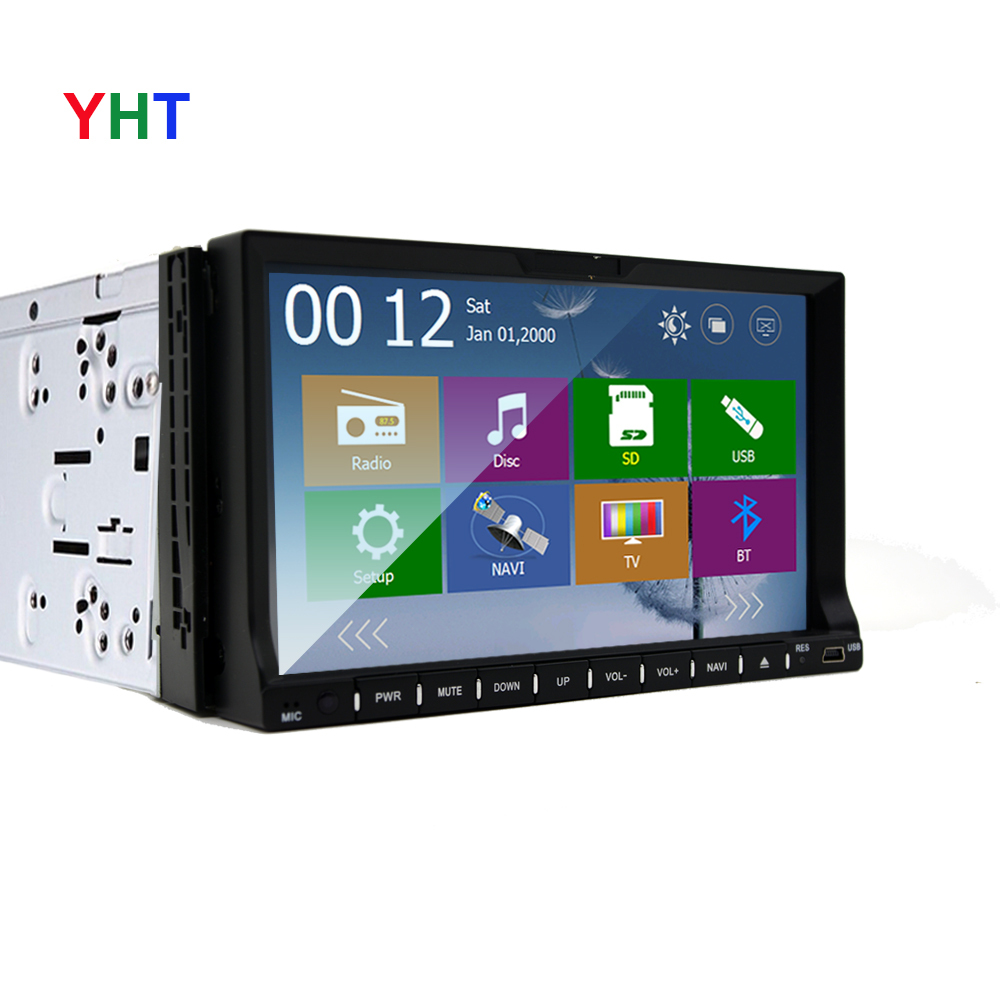 Free Camera CarDVD Player GPS Map Navigation WiFi USB Map 3G Bluetooth TV In dash 2Din Universal Interchangeable Player()