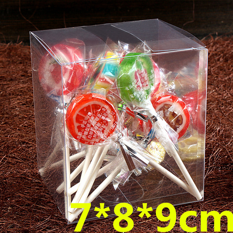 50Pcs/Lot 7*8*9cm Plastic PVC Invitation Candy Baby Gift Box Gift Box/ Favors Gift Display White Boxes(China (Mainland))