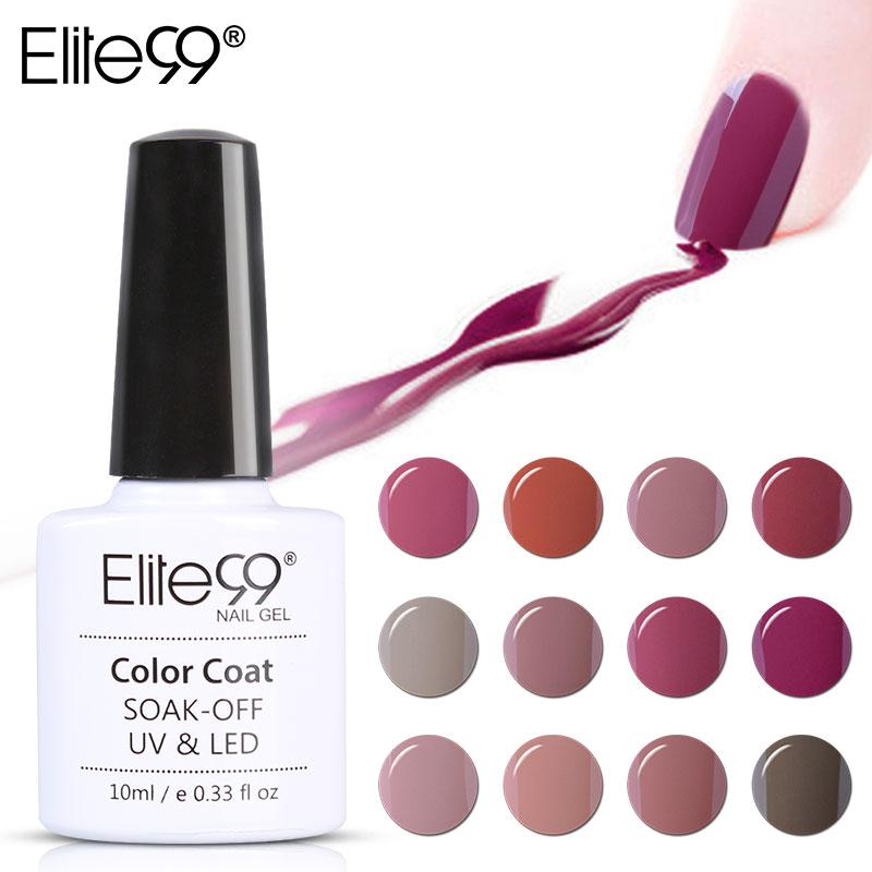 Elite99 Fashion Nude Color Nail Gel Polish Soak Off UV Nail Art Design Manicure Vernis Semi Permanent Nail Gel Varnishes(China (Mainland))