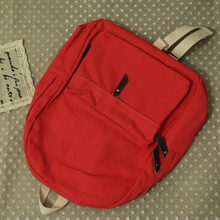 Pretty style candy color design canvas simple women backpack middle school student book bag leisure backpack(China (Mainland))