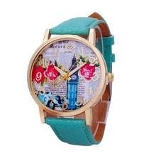 Fashion Retro Rose watch Geneva women Wild Leather Multicolor wristwatches Freeshipping W463