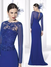 spring 2017 plus size royal blue bridesmaid dresses the bride mother dress women formal wedding gown QW58(China (Mainland))