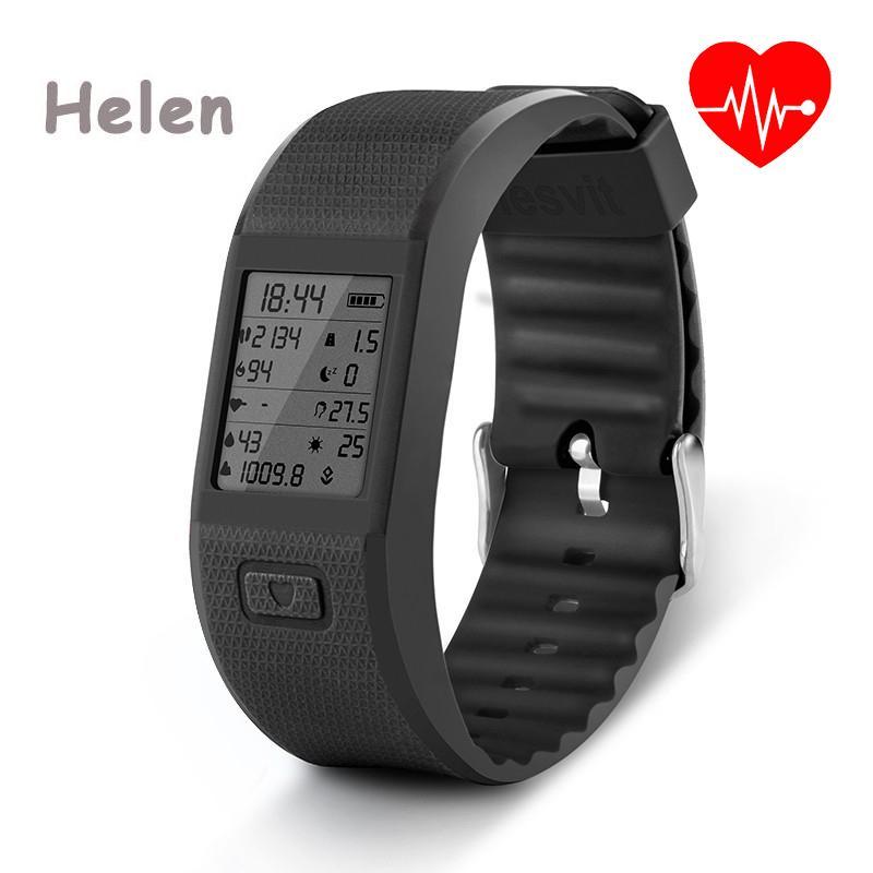 Multifunction Hesvit S3 Bluetooth 4.0 Wristband Sync Smart Bracelet Sport Fitness Tracker Heart Rate Wrist Temperature Display<br><br>Aliexpress