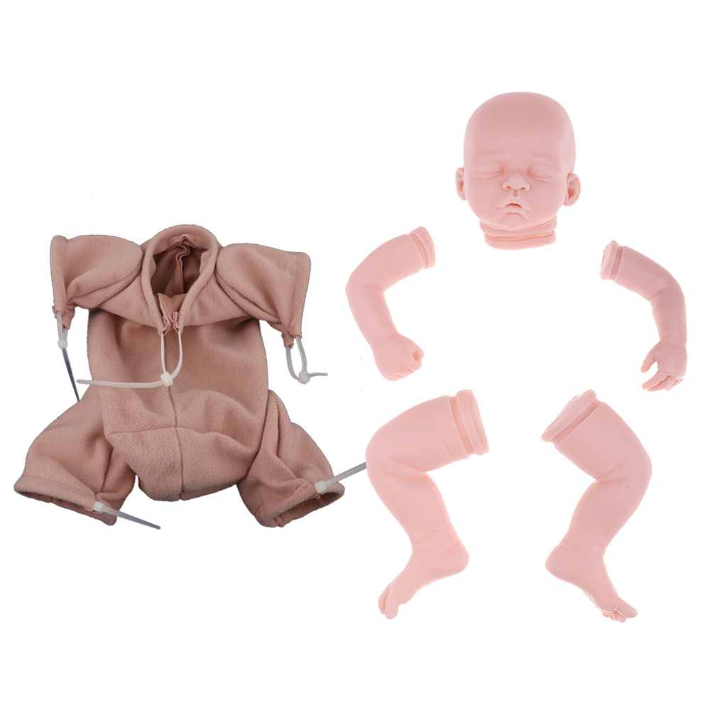 Handmade DIY 20inch Reborn Kits Soft Silicone Blank Baby Doll Mold Suede Cloth Body Set Hands-On Toy