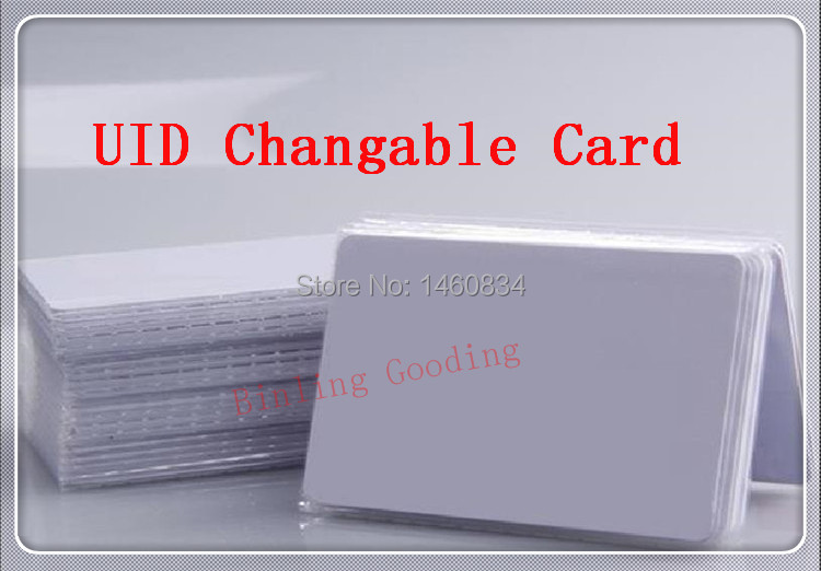 UID Changeable Card RFID 13.56MHz ISO14443A Block 0 sector zero writable HF Copy Clone MF1 1K S50 support Libnfc NFC Cracker(China (Mainland))
