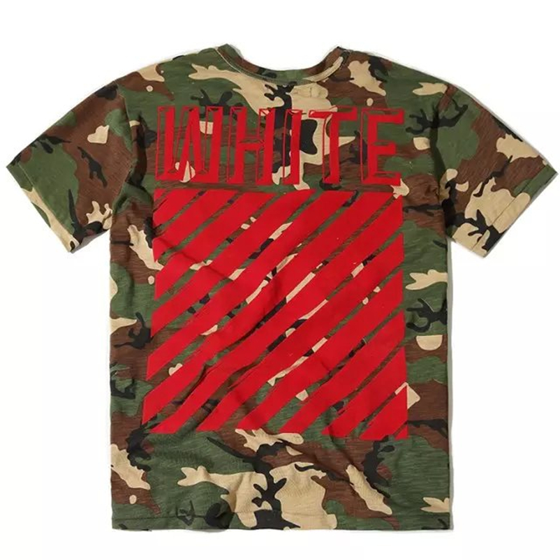 TOP Version Off White C/O Virgil Abloh Religion Camouflage Pattern Men Short Shirts Pyrex Vision KTZ European and American Style(China (Mainland))