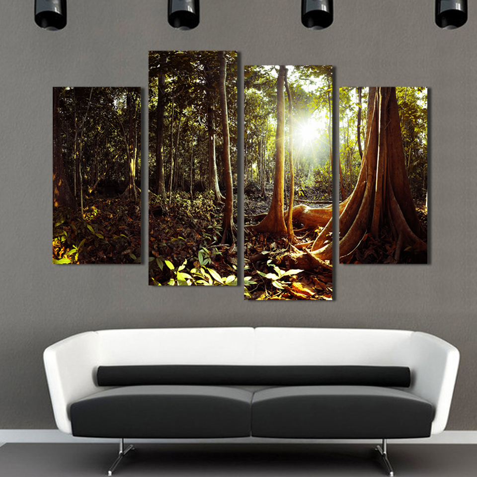 Online buy wholesale forest print wall from china forest print ...