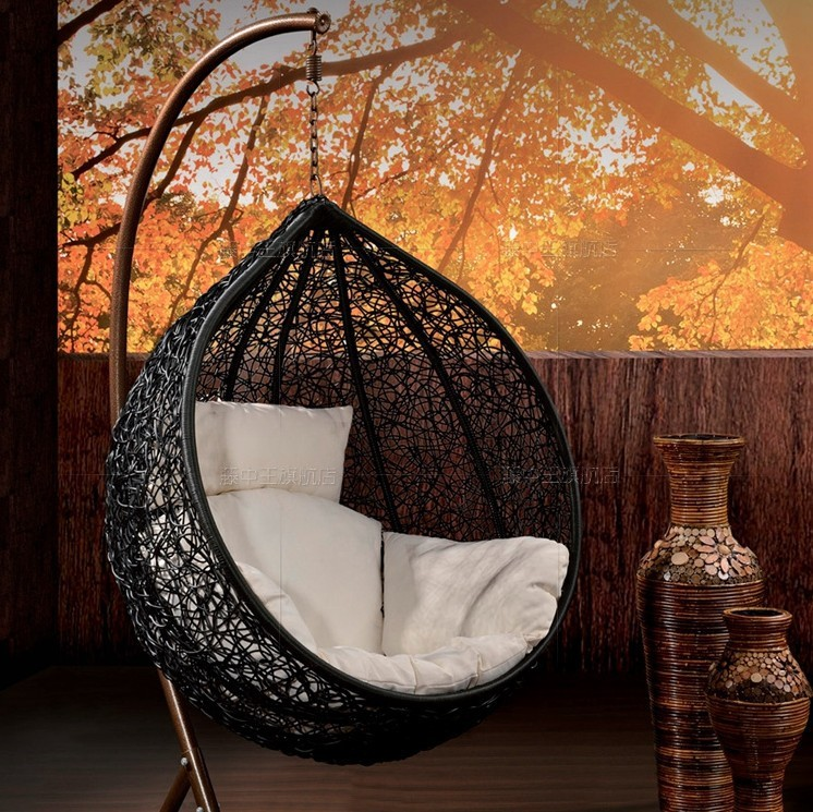 Fully Upgraded Outdoor Wicker Chairs Indoor Lazy Hammock Swing Rocking Chair