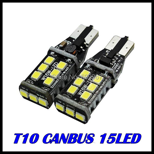 2x T10 W16W 921 LED CANBUS T10 15led 2835smd Chip LED High Power Light Bulbs Compatible with T10 W5W LED canbus Bulbs<br><br>Aliexpress