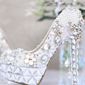 Gorgeous Bride Wedding Shoes Crystal Evening Dress Shoes High heel Bridal Shoes Party Prom Dress Shoes