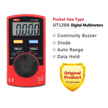 Buy 1pcs UNI-T Pocket Size Type Digital Multimeter UT120A 4000 Count Display Auto Range Continuity Buzzer Voltage Testing Tools for $10.90 in AliExpress store