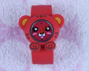 Здесь можно купить  Free Shipping Silicone Tiger cartoon animal watch,Child pops table 10pcs/lot  Часы