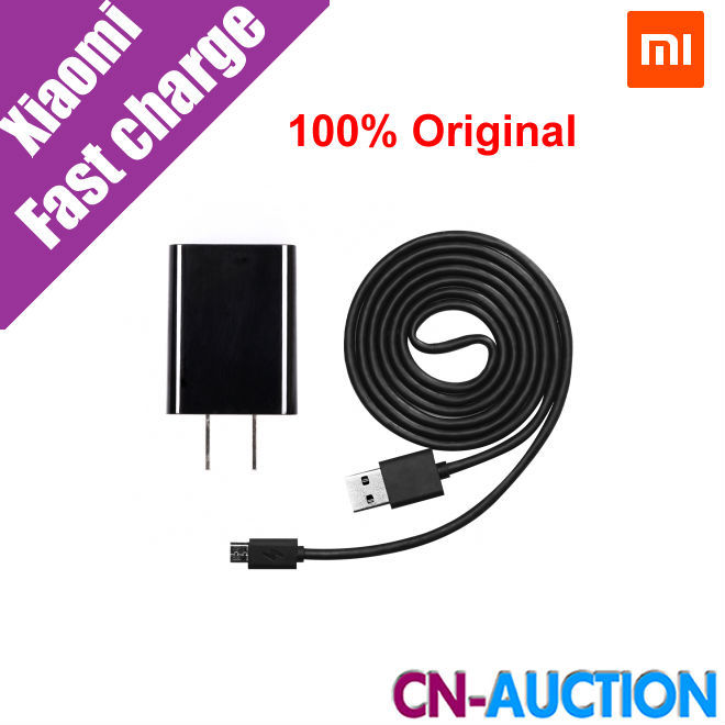 100% Original Xiaomi Fast Charging Kit 5V 2A Wall Charger Plug & 120cm Data Sync Micro USB Cable US Standard(China (Mainland))
