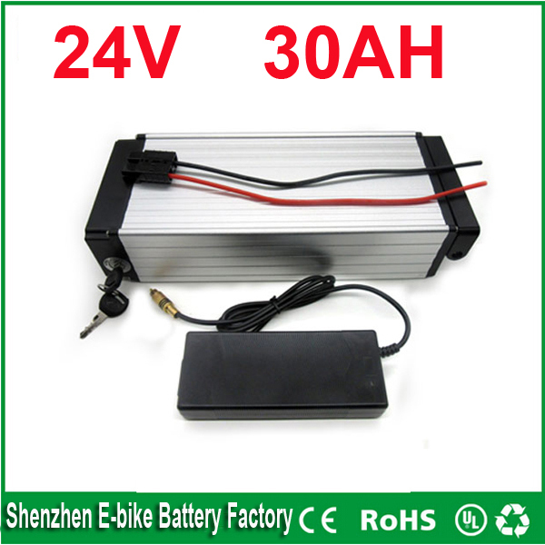 24V 30AH Lithium Battery Electric Bicycle Scooter 24V Battery Lithium-ion ebike battery pack AKKU(China (Mainland))