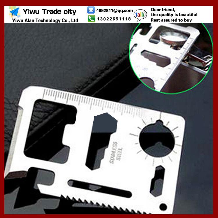 0 83 1pcs 11 1 Multifunction Multi Mini Credit Card Survival Pocket Knife Saw Camping