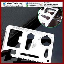($ 0.83 1pcs) 11-1 Multifunction Multi Mini Credit Card Survival Pocket Knife Saw Camping Tool