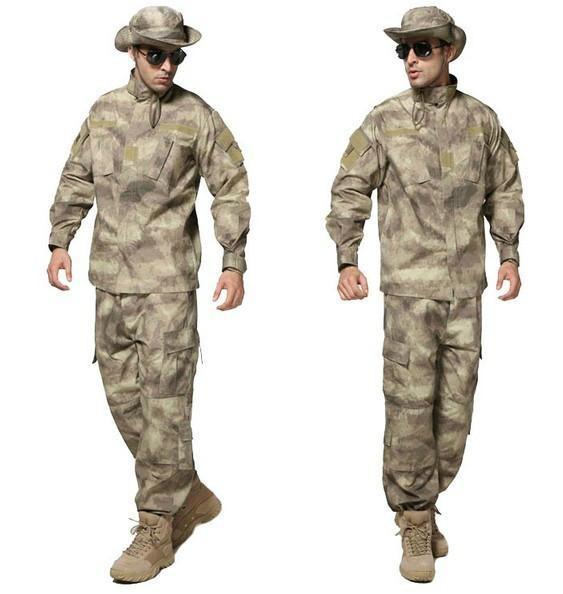 Blue-8-Colors-Tactical-Uniform--Jacket-And-Army-Pants-MultiCam-ACU-Woodland-A-TACS-FG-Camouflage