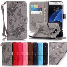 Buy Coque Samsung Galaxy S7 Case Leather Wallet Cell Phone Cases Samsung Galaxy S7 Edge Case Flip Cover Luxury 3D Diamond Bling for $5.69 in AliExpress store
