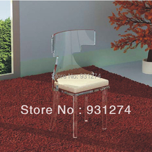 (2 pieces/lot )  Durable   Modern   Light  Weight   Acrylic  Leisure  Chairs  For  Living  Room  Furniture(China (Mainland))