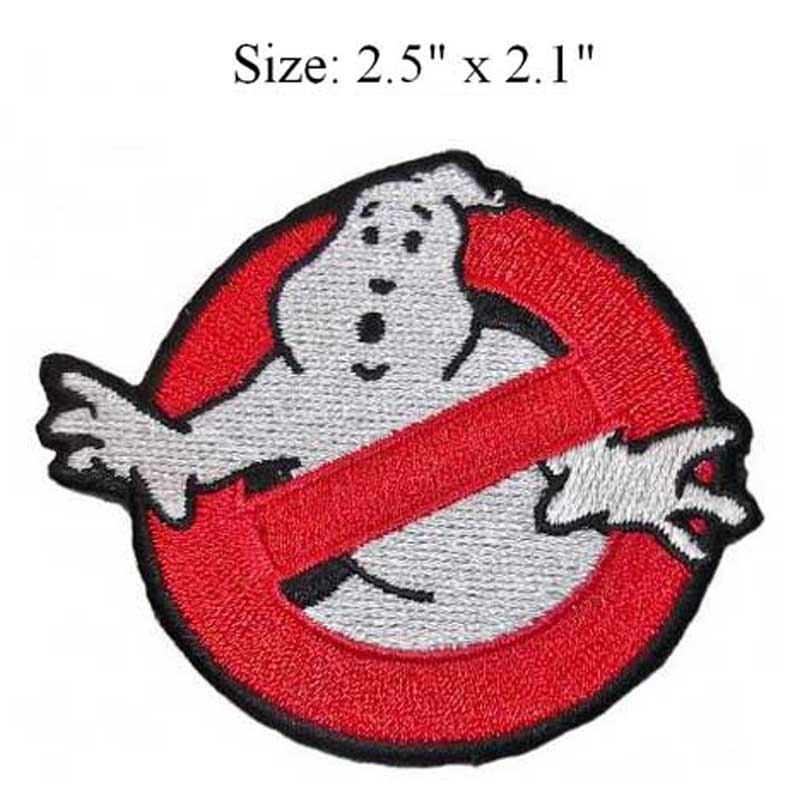 """2.5"""" x 2.1"""" Ghostbuster Movie Embroidered Uniform Logo Patch by StarBase Atlanta(China (Mainland))"""