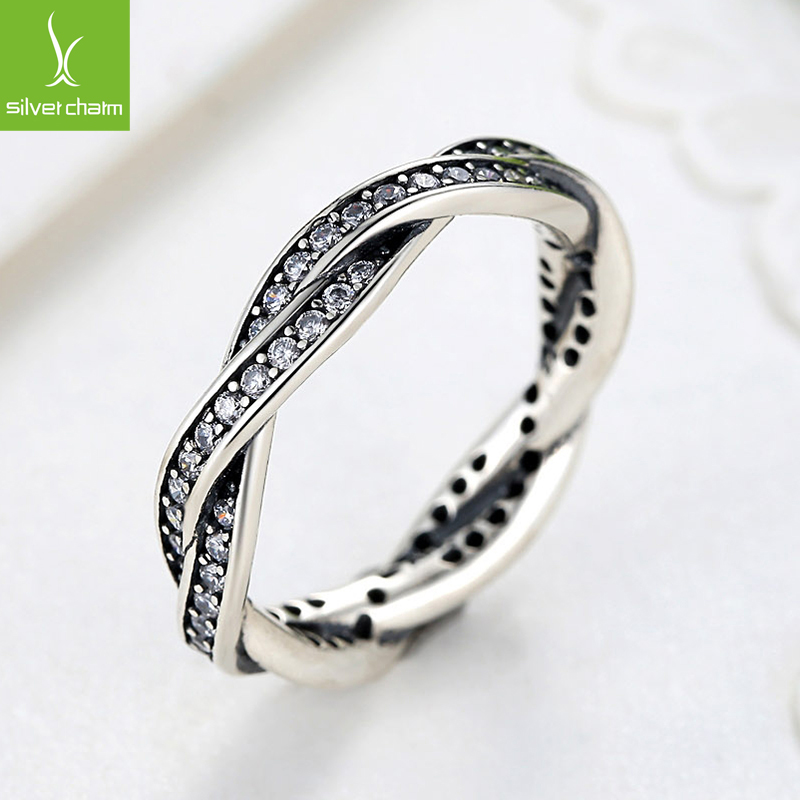 925 sterling silver rings with full crystal compatible. Black Bedroom Furniture Sets. Home Design Ideas