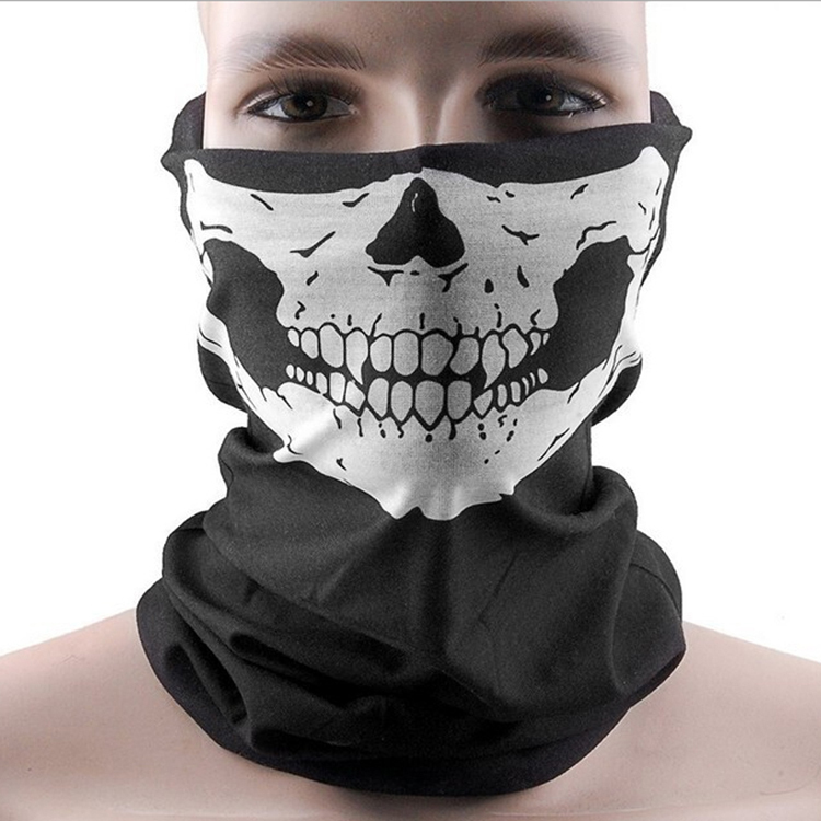 Fashion Dust Mask Skeleton Ghost Skull Pattern Face Mask Biker Of Duty Cos Costume Game Black Drop Shipping SC-0074-BK(China (Mainland))