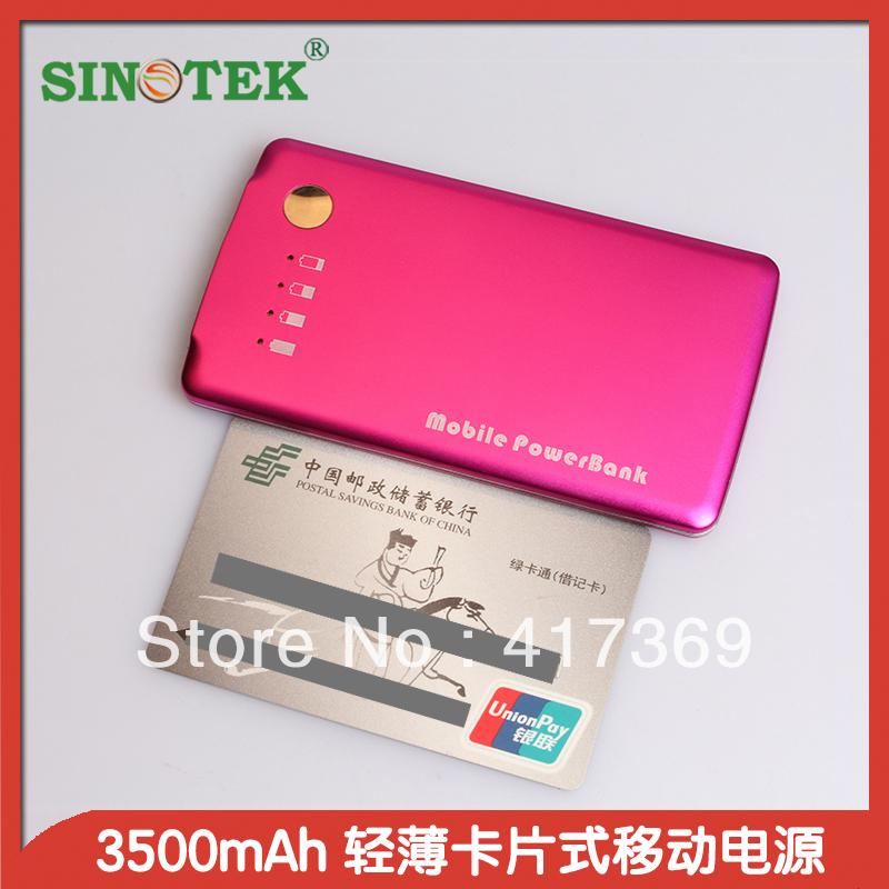 SINOTEK power bank dual usb ultra thin 3500mah