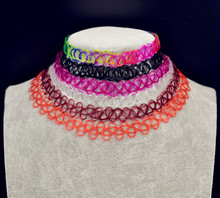 New fashion jewelry Stretch Fishing Line Tattoo necklace gift for lovers' wholesale mix color N1531
